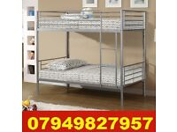Cost Effective METAL Bunk Bed WITH DEEP QUILTED Matrs