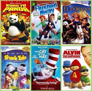 12 Sealed Kid DVD's. $5 Each Firm.