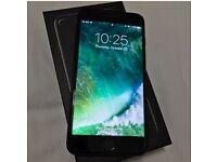 JET BLACK IPhone 7 Plus 128GB Factory Unlocked AS NEW