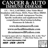 CANCER TREATMENT / AUTO-IMMUNE DISEASE