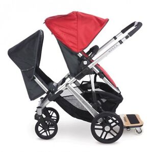 Uppababy Vista Fully Loaded with Rumble Seat AND Piggyback Board West Island Greater Montréal image 1