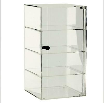 3 Shelf Store Display Counter Top Acrylic Square Showcase 10 X 10 X 18.5 Inch