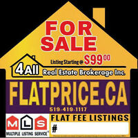 Place your FREE ADS on www.FlatPrice.ca Today and upgrade to MLS
