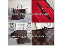 Louis Vuitton neverfull real leather