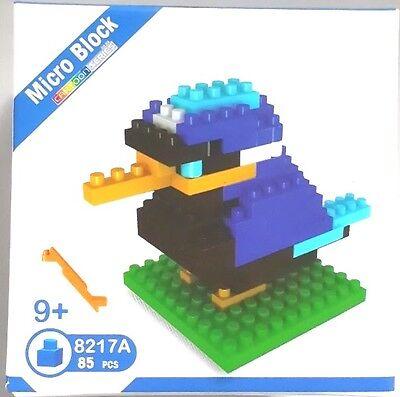 NEW MICRO BLOCK BLUE BIRD 3 D PUZZLE PUZZLES 85 PIECES PLASTIC MODEL JIGSAW
