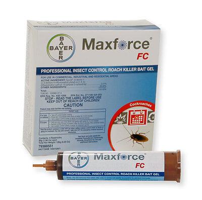 20 Tubes & 20 Plungers Maxforce FC Cockroach German Roach Pest Control Gel Bait
