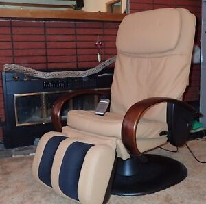 Massage Chair For Sale, Luxurious Soft Beige Leather,