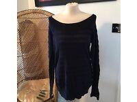 Women's blue off shoulder jumper size 16