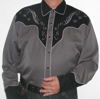 SCULLY STAR AND CROSS EMBROIDERED RETRO WESTERN SHIRT