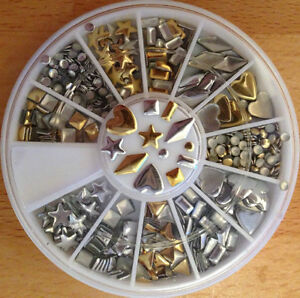 15 Packs Of Assorted Silver /Gold Alloy Studs -Nail or Phone Art Kitchener / Waterloo Kitchener Area image 2