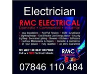 Electrician Belfast 07846110484 lights sockets cookers showers rewires maintenance free estimates