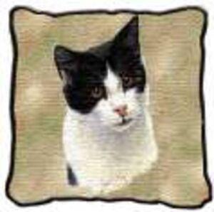 Black Cat pillow, Bombay cat pillow, black & white cat pillow Oakville / Halton Region Toronto (GTA) image 3