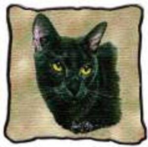 Black Cat pillow, Bombay cat pillow, black & white cat pillow Oakville / Halton Region Toronto (GTA) image 1