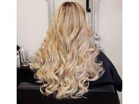 Premium human hair extensions clip in