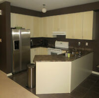 Modern, nearly new open concept townhouse in downtown Kitchener