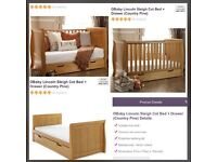 Sleigh cot bed *NOT OPENED*