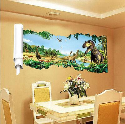 3D PVC Art View Jurassic Park Dinosaur Kids Home Room Decor Wall Sticker Decal L - Jurassic Park Decorations