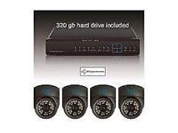 4 x 600TVL Analog Camera CCTV System. Full colour. Night vision ir 20m