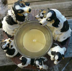 Circle of Spaniels, Springer Spaniel candleholder,Spaniel family