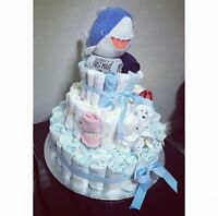 Diaper cake for baby showers/new moms!