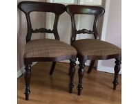 2 LOVINGLY RESTORED QUEEN ANN STYLE CHAIRS
