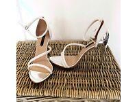Zara strappy heel sandals - size 6