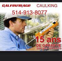 Calfeutrage Portes Fenêtres Solarium / Caulking Windows Doors