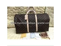 Louis Vuitton monogram travel bag real leather