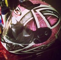 Women's HJC motorcycle helmet - almost new