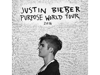 2 STANDING JUSTIN BIEBER GLASGOW 2TICKETS SATURDAY 29TH OCTOBER