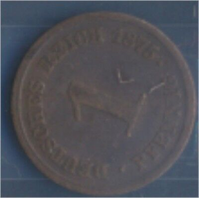 Deutsches Reich Jägernr: 1 1875 E schön Bronze 1875 1 Pfennig (7849186