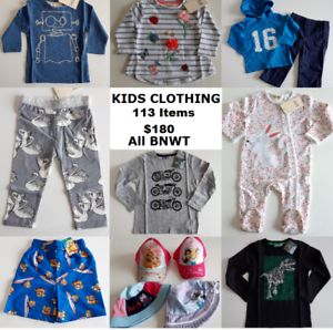 2c3307699 BULK WHOLESALE LOT CHILDRENS CLOTHING - 113 items - ALL brand new