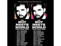 "2x TICKETS FOR DRAKE ""THE BOY MEETS WORLD"" TOUR"