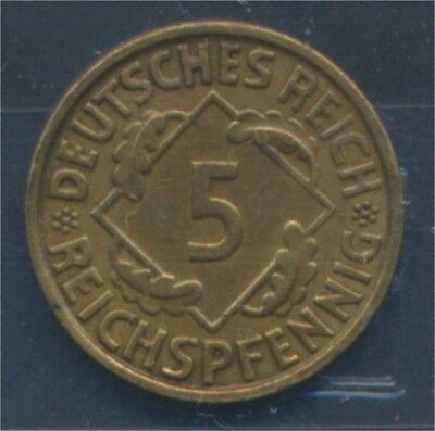 Deutsches Reich Jägernr: 316 1935 J vorzüglich 1935 5 Reichspfennig (7879601