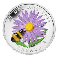 $20 Silver Coin - Aster with Venetian Glass Bumble Bee - (2012)