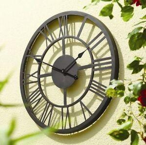 giant roman numerals outdoor garden wall clock 56cm large