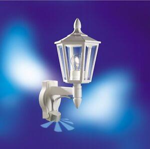 applique steinel l 15 avec d tecteur lanterne lampe de couloir blanc 617912 9499 ebay. Black Bedroom Furniture Sets. Home Design Ideas