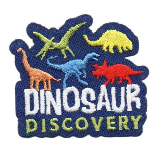 Girl Boy Cub DINOSAUR DISCOVERY Fun Patches Crest Badges SCOUT GUIDE Field Trip