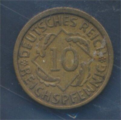 Deutsches Reich Jägernr: 317 1933 A vorzüglich 1933 10 Reichspfennig (7879747