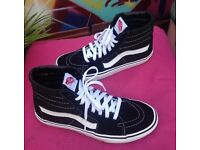 Vans skate high top trainers uk size 6