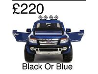 Ford Ranger 12v Black Or Blue Available Parental Remote Control Self Drive