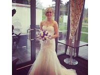 Berketex fish tail wedding dress