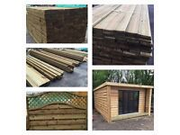Fencing, decking, landscaping and general building timber