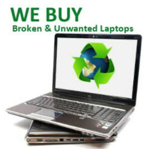 Unwanted and Broken Laptops