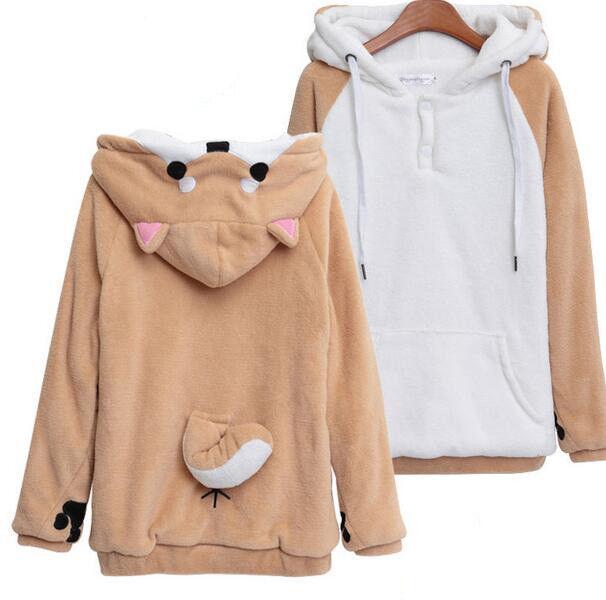 Manteau à capuche neko atsume shiba inu husky pour femmes un sweatshirt pullover