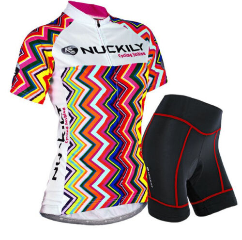 Women/'s Riding Short Sleeve Jersey Shorts Kits Cycling Bike Shirt Pants Set S-XL