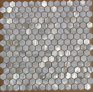 Brown White BRICK HEX SHAPE shell mother of pearl mosaic tiles Kitchener / Waterloo Kitchener Area image 5