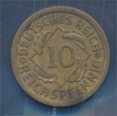 Deutsches Reich Jägernr: 317 1930 F vorzüglich 1930 10 Reichspfennig (7879586