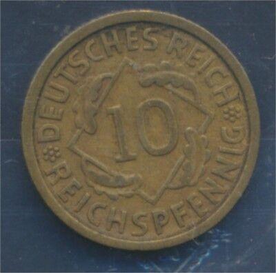 Deutsches Reich Jägernr: 317 1932 D vorzüglich 1932 10 Reichspfennig (7879750