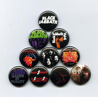 BLACK SABBATH - PINS / BUTTONS (ozzy poster record lp print vintage metal shirt)